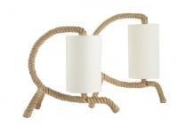 Set of Two Audoux Minet Rope Table Lamp, 1950