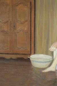 Femme au tub. Par Gustave Poetzsch (1870-1950)