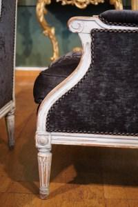 Paire de bergères à oreilles de style Louis XVI. XIXème siècle
