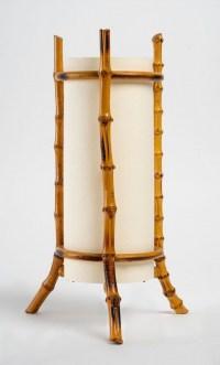 1950 Paire de lampes en bambou Louis Sognot
