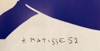 """MATISSE Henri ( d'après ) """"Nu bleu"""" Estampe signée et datée 52"""