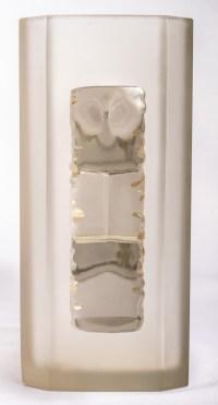 """Vase """"Margaret"""" verre blanc patiné sépia de René LALIQUE"""