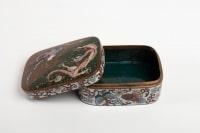 Boite En Emaux Cloisonnés Sur Cuivre à Décor De Dragon Et Phénix, Japon, Vers 1880