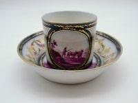 Tasse en porcelaine de Paris à décor de scènes rurales - XIXème - Sans Marque