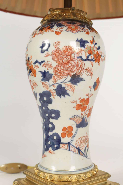 le march biron lampe en porcelaine de chine imari du. Black Bedroom Furniture Sets. Home Design Ideas
