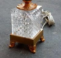 1970 Lampe cristal et bronze