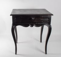 Table, Office From The Beginning Of The 19th Century, Louis XV Style In Blackened Wood