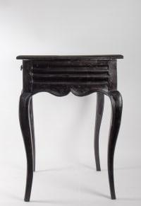 Table, Bureau Du Début Du 19ème Siècle, Style Louis XV En Bois Noirci