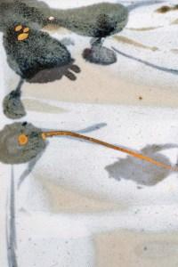 Vincent Potier - Panneau en céramique à décor abstrait, à rehauts d'or. Vers 1980