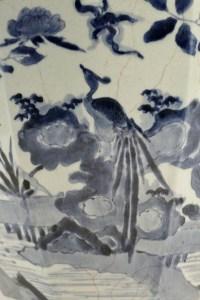 Important vase de forme octgonale fours d'Arita 17ème siècle