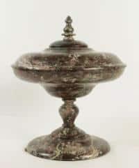 Coupe couverte en marbre, XIXème siècle.
