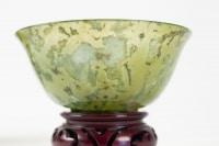 Paire De Coupes En Jadéïte, Art d'Asie, Antiquité, Début Du XXème Siècle, Chine
