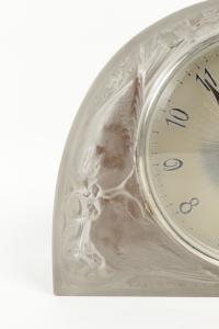 """René Lalique & Ato pendule borne """"Moineaux"""""""