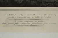 Lithograph engraving of House de Tasso Torquato