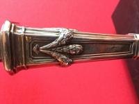 Paire de Candélabres en Bronze Argentés Style Louis XVI