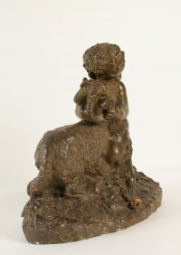 Terracotta After Clodion, A Wildlife And Aries, Napoleon III, XIXth Century