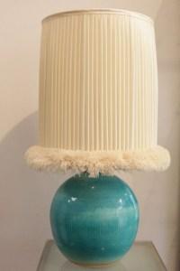 Pied de lampe en céramique par Jean Besnard, art déco