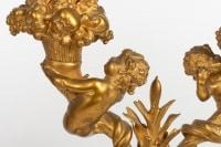 Garniture en bronze doré du 19e siècle Napoléon III