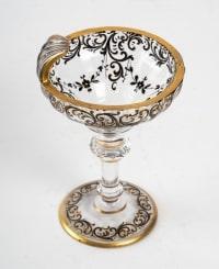 Verre bohème en forme de coquille, XIXème