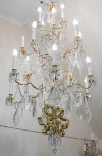 Spectaculaire Paire d'Appliques, 1930-1940, En Bronze Doré Et Pampilles En Cristal