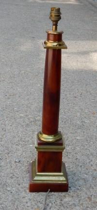 1950/70 Lampe maison Jansen Laiton et Bakélite Couleur Ambre
