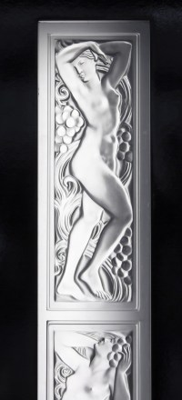 """Paire de Portes composées de 3 Panneaux Décoratifs Femme """"Tête Levée"""" & """"Bras levés"""""""