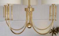 Grand lustre de 1970 en laiton doré de la Maison Roche