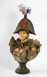 Buste de merveilleuse avec coiffe au coeur, 1850