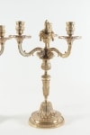 Pair of candelabra in the style of Louis XV in gold gilt bronze 19th Century period Napoleon III. The middle bobeche will accommodate a candle.