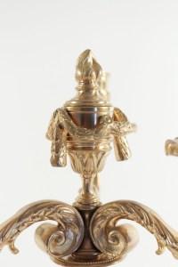 Paire de Candélabre de style Louis XV en bronze doré, 19ème siècle, époque napoléon III