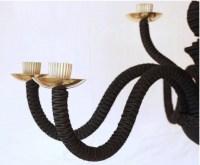 1960 chandelier with black trim Maison Honoré