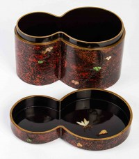 Original Kobako (boîte couverte) de 2 cylindres accolés.