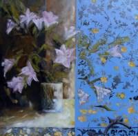 """Tableau """"Le Bouquet aux Lys"""" - Huile sur Toile 100x100 cm"""