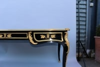 Bureau double face en laque noir / Double-sided desk in black lacquer