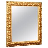Miroir en bois et stuc doré du XIXème siècle d'époque Napoléon III.