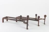 Paire de Chenet en bronze patiné époque Napoléon III 19e siècle
