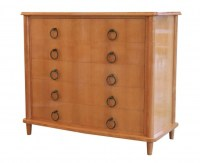 1940 Sycamore Commode with Bronze Handles Attributed to André Arbus