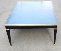 1950/70 Table Basse Bois Laqué Noir Maison Jansen 120 x 80