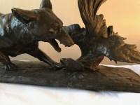 """Bronze """"Le renard"""", signé Drouot. Ref:162."""