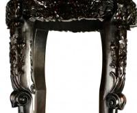 Paire de sellettes chinoises en bois dur avec marbre, 19e siècle