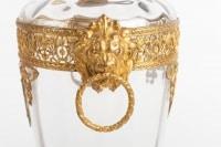 Paire de vases en cristal et bronze doré Napoléon III