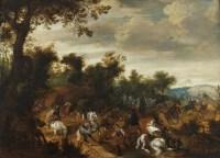 Escarmouche à l'orée du bois – Attribué à Sébastiaen Vrancx (1573-1647)