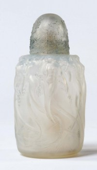 """René LALIQUE (1860-1945) Brûle Parfum""""Sirènes"""" Opalescent"""