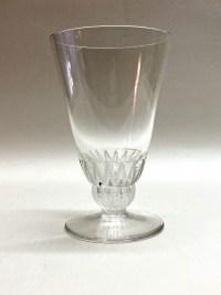 "Suite de 12 Verres ""Champigny"" verre blanc de René LALIQUE"