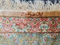 Tapis En Soie Ghoum signé - Iran Vers 1950 époque du Shah