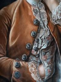 portrait d'un gentilhomme .Pastel encadré 18 eme siecle