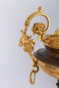 Ensemble en bronze et bronze doré Napoléon III 19e siècle
