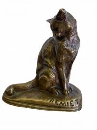 Chat Assis par Emmanuel Frémiet (1824-1910)