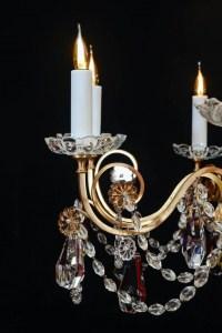 Lustre, Maison Baguès, 1940, 12 lumières, pampilles de cristal, grande décoration