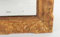 Miroir au mercure Louis XIV en bois doré 18e siècle